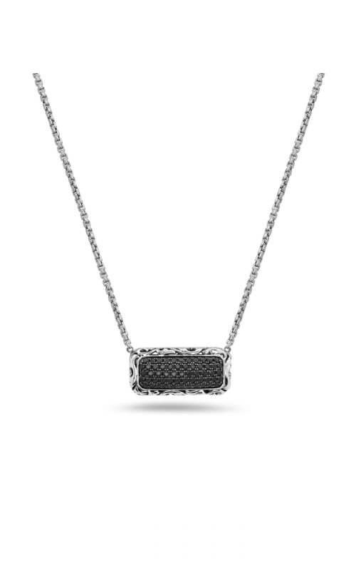 Charles Krypell Black Sapphire Pave Necklace 4-6977-SBS product image