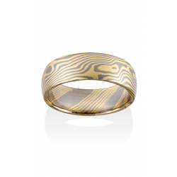 Chris Ploof Traditional Mokume Gane Wedding Band MG-MAPLE-Y5 product image