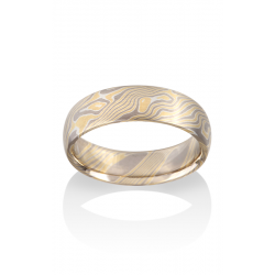 Chris Ploof Traditional Mokume Gane Wedding Band MG-BIRCH-YWS product image