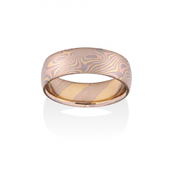 Chris Ploof Traditional Mokume Gane Wedding Band MG-BIRCH-RWY product image