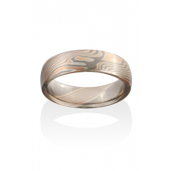 Chris Ploof Traditional Mokume Gane Wedding Band MG-BIRCH-RWS product image