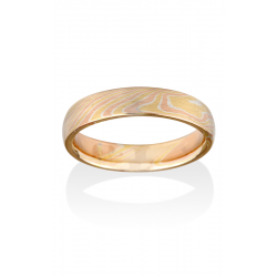 Chris Ploof Traditional Mokume Gane Wedding Band MG-BIRCH-YRS product image
