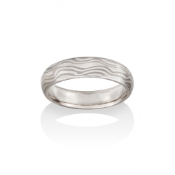 Chris Ploof Traditional Mokume Gane Wedding Band MG-RIVER-WS product image