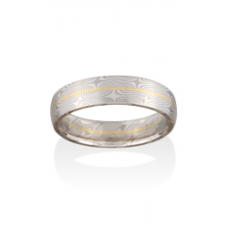 Chris Ploof Traditional Mokume Gane Wedding Band MG-SPRUCE-WS-RAIL product image