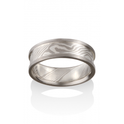 Chris Ploof Traditional Mokume Gane Wedding Band MG-MAPLE-5S-RAILS product image