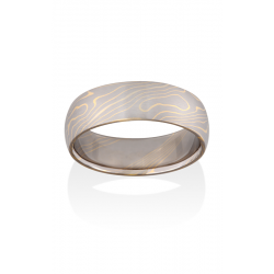 Chris Ploof Traditional Mokume Gane Wedding Band MG-ASPEN-WY product image