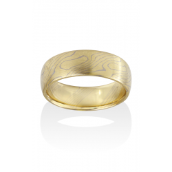 Chris Ploof Traditional Mokume Gane Wedding Band MG-ASPEN-YW product image