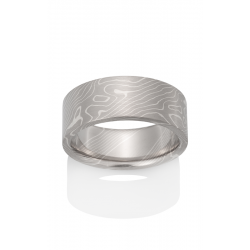 Chris Ploof Traditional Mokume Gane Wedding Band MG-ASPEN-5S product image