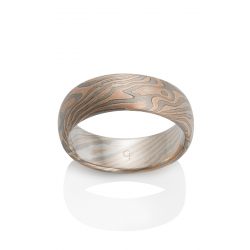 Chris Ploof Traditional Mokume Gane Wedding Band MG-OAK-RWS product image