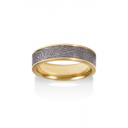 Chris Ploof Damascus Steel Wedding Band DS-BARREL-CHAN-Y product image