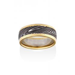 Chris Ploof Damascus Steel Wedding Band DS-THOR-RAILS product image
