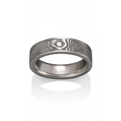 Chris Ploof Damascus Steel Wedding Band DS-VORTEX-CHAN product image
