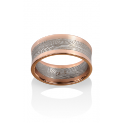 Chris Ploof Damascus Steel Wedding Band DS-DECO-CON-RAILS product image