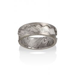 Chris Ploof Damascus Steel Wedding Band DS-THEBES product image