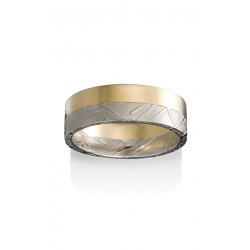Chris Ploof Damascus Steel Wedding Band DS-BAMBOO-5050-GE product image