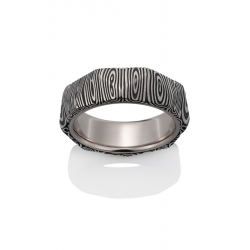 Chris Ploof Damascus Steel Wedding Band DS-PANTHEON-1626-LIN-OX product image
