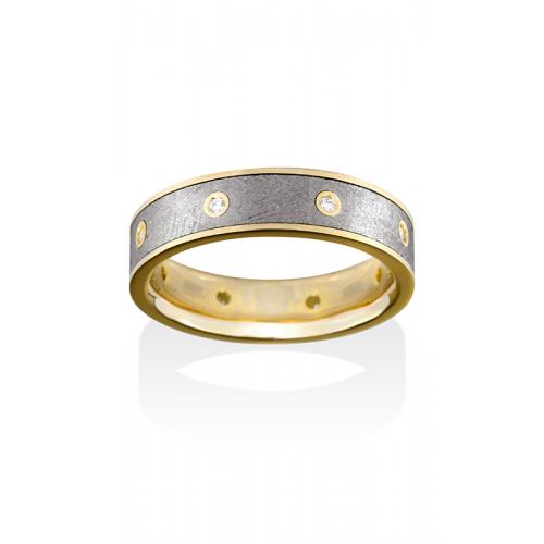 Chris Ploof Meteorite Wedding band MT-SIRIUS-DIA product image