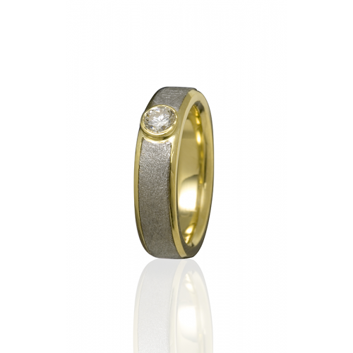 Chris Ploof Meteorite Wedding band MT-VEGA-DIA product image
