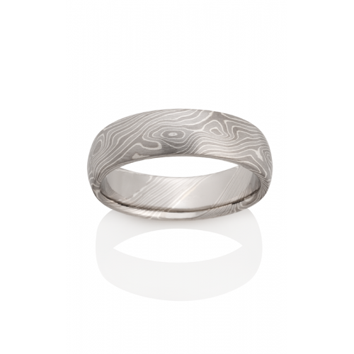 Chris Ploof Traditional Mokume Gane Wedding band MG-BIRCH-PWS product image