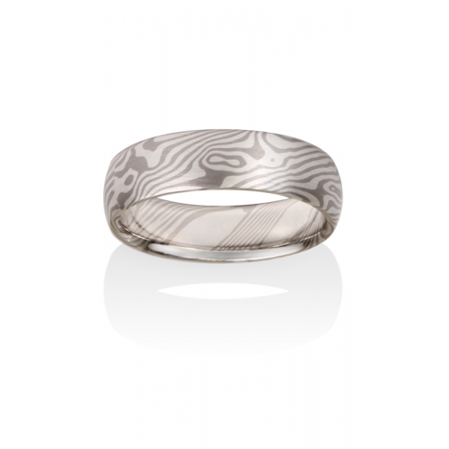 Chris Ploof Traditional Mokume Gane Wedding band MG-MAPLE-5S product image