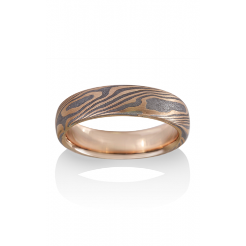 Chris Ploof Traditional Mokume Gane Wedding band MG-MAPLE-MTR product image