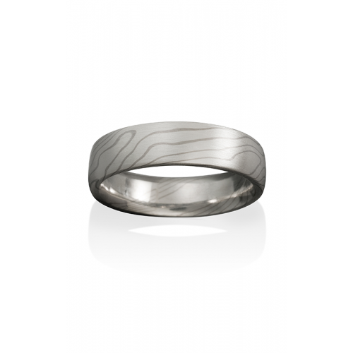 Chris Ploof Traditional Mokume Gane Wedding band MG-ASPEN-SW product image