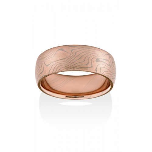 Chris Ploof Traditional Mokume Gane Wedding band MG-ASPEN-RW product image