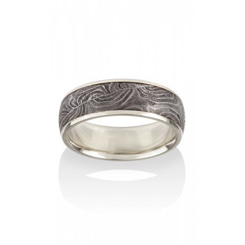 Chris Ploof Damascus Steel Wedding band DS-BARREL-CHAN-W product image