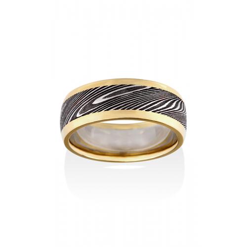 Chris Ploof Damascus Steel Wedding band DS-THOR-RAILS product image