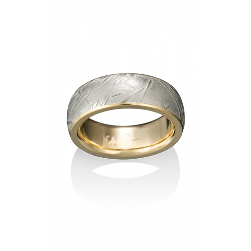 Chris Ploof Damascus Steel Wedding band DS-BAMBOO-CHAN product image