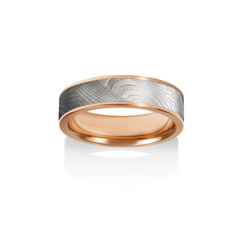 Chris Ploof Damascus Steel Wedding band DS-BREEZE-CHAN product image