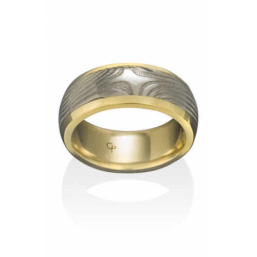 Chris Ploof Damascus Steel Wedding band DS-X-CHAN product image