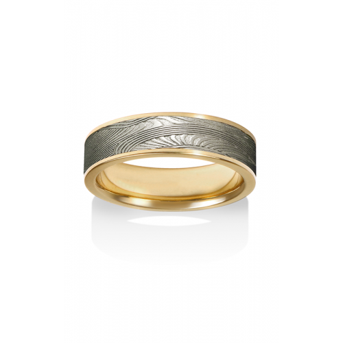 Chris Ploof Damascus Steel Wedding band DS-DECO-CHAN product image