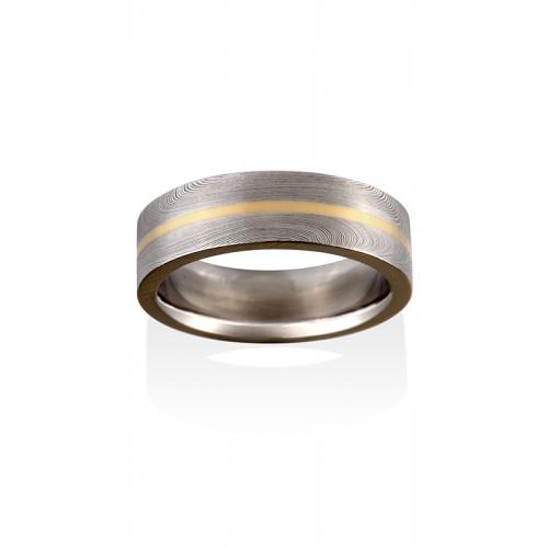 Chris Ploof Damascus Steel Wedding band DS-STARLIGHT-INL product image