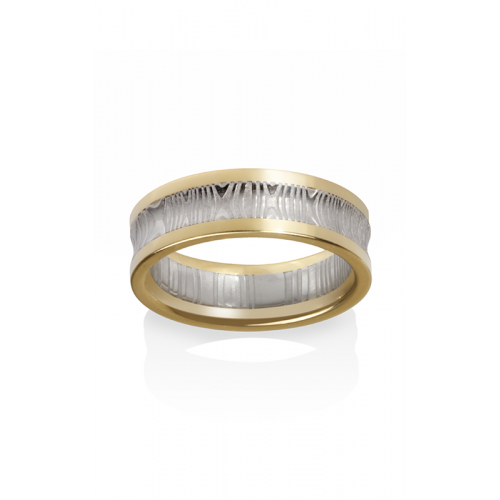 Chris Ploof Damascus Steel Wedding band DS-ARIES product image