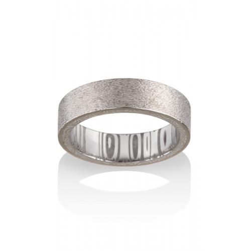 Chris Ploof Damascus Steel Wedding band DS-ATLA product image