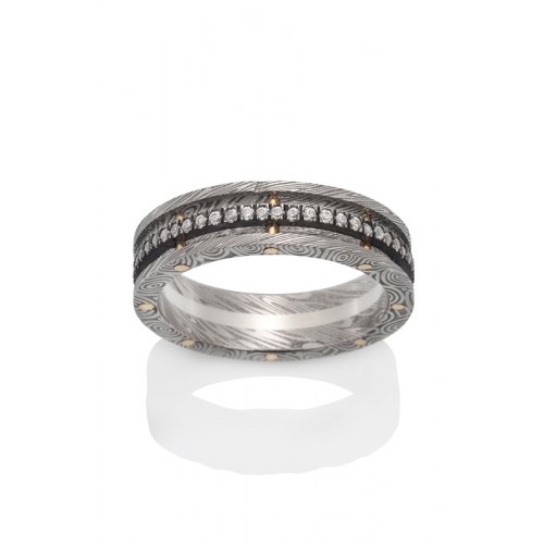 Chris Ploof Damascus Steel Wedding band DS-ARGO product image