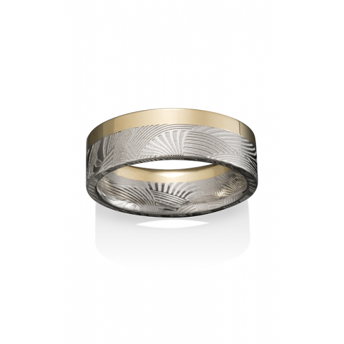 Chris Ploof Damascus Steel Wedding band DS-PALM-3366-GE product image