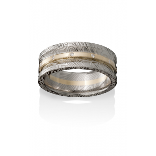 Chris Ploof Damascus Steel Wedding band DS-HERCULES product image