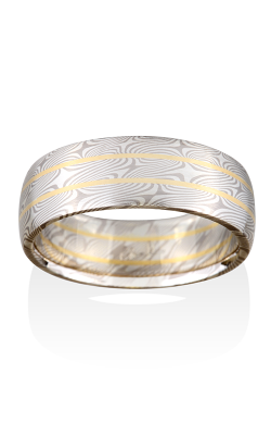 Chris Ploof Traditional Mokume Gane Ring MG-WILLOW-RAILS-WS product image