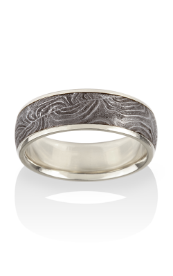 Chris Ploof Damascus Steel Ring DS-BARREL-CHAN-W product image