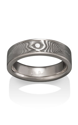 Chris Ploof Damascus Steel Ring DS-VORTEX-CHAN product image