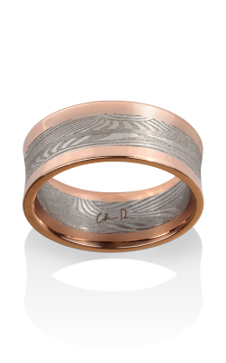 Chris Ploof Damascus Steel Ring DS-DECO-CON-RAILS product image