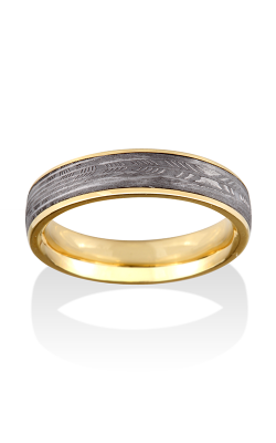 Chris Ploof Damascus Steel Ring DS-FEATHER-CHAN product image