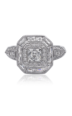 Christopher Designs Crisscut Asscher Engagement ring G3R-CU product image