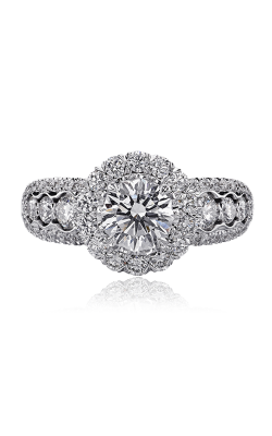Christopher Designs Crisscut Round Engagement Ring 626F-RD100 product image