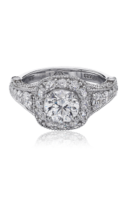 Christopher Designs Crisscut Round Engagement ring G38-CURD100 product image