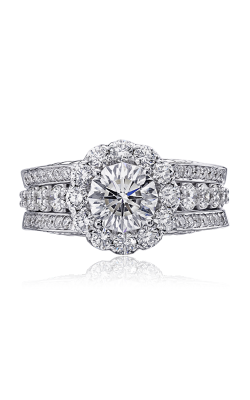Christopher Designs Crisscut Round Engagement Ring 76R-RD250 product image