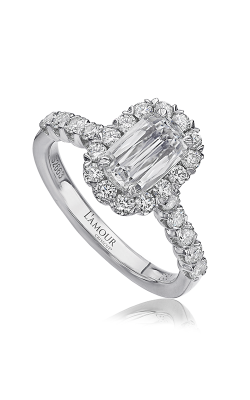Christopher Designs Crisscut L'Amour Engagement Ring L101-200 product image