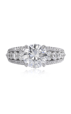 Christopher Designs Crisscut Round Engagement Ring 653-RD200 product image